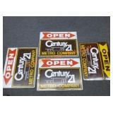 VTG 4- Century 21 metal signs