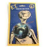 Vintage E.T. Photo Button on Original Blister Pack