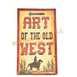 """Vintage """"Art of the Old West"""" Hand Painted Wood"""