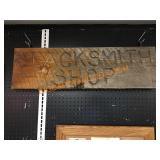 "Blacksmith Shop Sign *11"" x 3ft 2"""