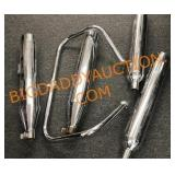 Motorcycle Foot Bar and  Muffler pipes