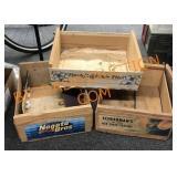 3-Wood Fruit Crates