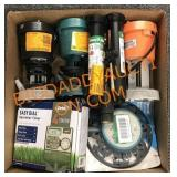 Water pumps, sprinkler, timer and more
