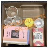 Kitchenware and cookbooks