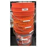 5- 5 gallon buckets