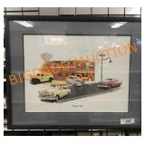 26 x 21 framed cruise in time Print