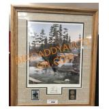 21 x 24 boundary waters print with stamps and