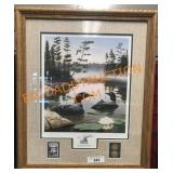 21 x 24 boundary Waters with stamps and coins