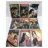 Assorted comics lot of 9 Vampirella