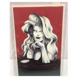 Lady death red velvet swimsuit cover