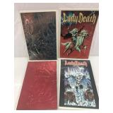 Lady Death lot of 4 with purgatori variant covers