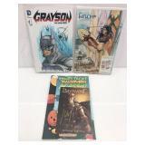 Assorted comics lot of 3 signed
