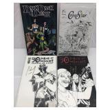 Assorted comics lot of 4 signed
