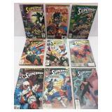 Assorted comics lot of 9 Superman