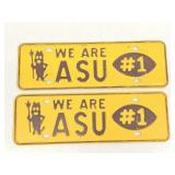 Vintage ASU Fan License Plate