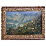 Circa 1890-1900 Oil on Canvas Signed Jacque 38x28
