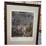 Vintage Offset French Print Framed 33X26