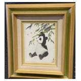 Chinese Panda LTD Ed. Print 164/200 Framed 17x24