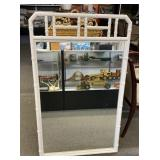 White Framed Mirror 46x30