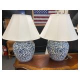 "Pair of 27"" Asian Style Lamps"