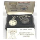 Vintage Bradley Time Bicentennial Pocket Watch