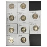 "10-Proof ""S"" Mint Quarters"