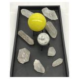 Quartz Crystals & Healing Orbs and Stone
