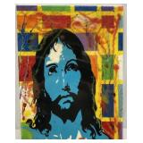 "Pop Art Oil Painting ""Jesus"" 28X14"