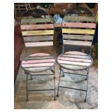 (2) Antique Folding Chairs