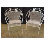 (2) Metal Patio Chairs