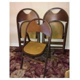 (3) Foldable Chairs