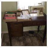 Sewing Machine Table w/ Accessories