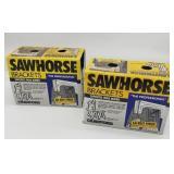 Sawhorse brackets.