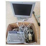 HP monitor and keyboard.