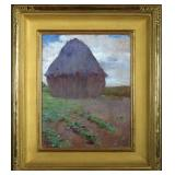 Lot 37.  Eric Pape Am. 1870-1938 The Wheatstack $800 - $1,200