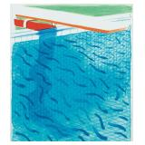 Lot 89.  David Hockney Br. b. 1937 Pool Made with Paper and Blue ink for Book $15,000 - $20,000