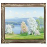 Lot 122.  Gustave Weigand Am. 1872-1957 Springtime $1,200 - $1,800