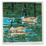 Lot 111.  Neil Welliver Am. 1929-2005  Canada Goose $1,000 - $2,000