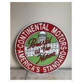 Vintage Continental Motors Advertising Sign