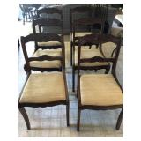 Vintage Carved Rose Chairs