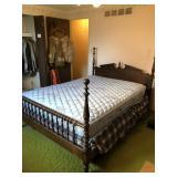 Ethan Allen Queen Spindle Bed