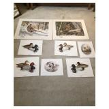 Lot Of Signed Duck Prints