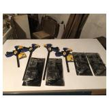 Lot Of Woodworking Clamps And More