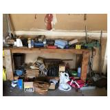 Contents On Workbench And Floor