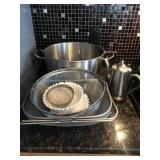Stainless Steel And Colander Lot