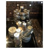 Spice Rack And Mortar And Pestle