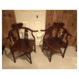 Pair Of Chinese Corner Chairs
