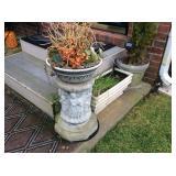 Concrete Planter Stand and Decor