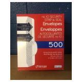 500 Envelopes MSRP $10.99