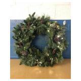 "32"" Pre-Lit Wreath MSRP $39.99"